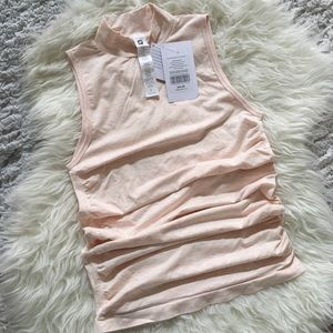 Fabletics Kathie High-Neck Seamless Ruched Tank S